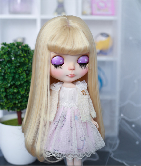 Free Shipping Blyth Doll Fashion Long Hair With Air Bangs Suitable For Blyth Dolls 1/6 1/4 1/3 BJD Doll Hairs Doll Accessories