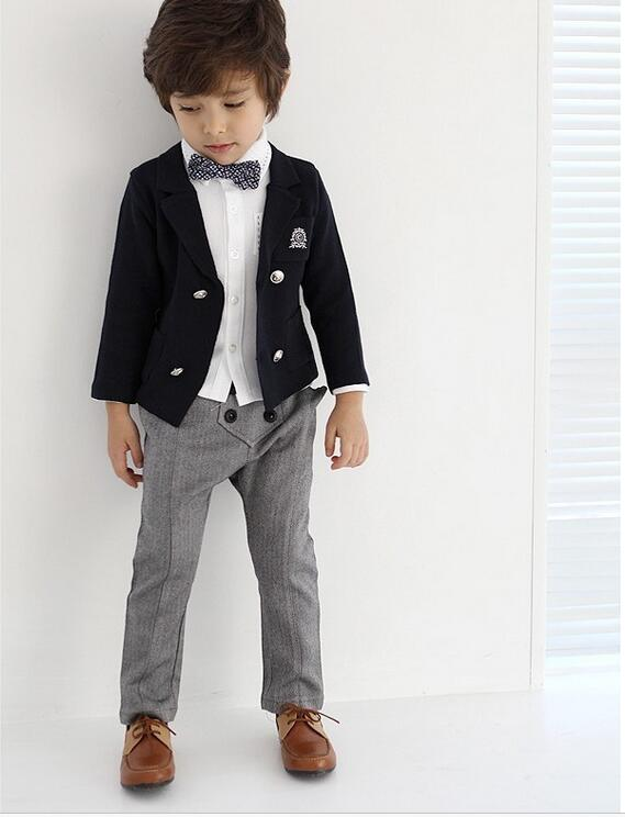 New 4PCS Boys Wedding Costume with  England Style Boys Formal  Blazer Suit Children Spring Clothing Set boys suits for weddingsNew 4PCS Boys Wedding Costume with  England Style Boys Formal  Blazer Suit Children Spring Clothing Set boys suits for weddings