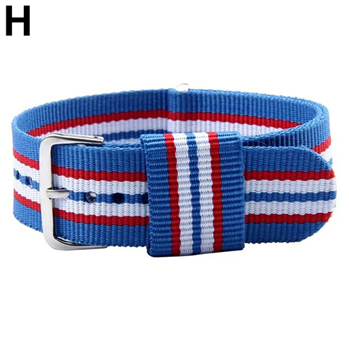 8 Colors Unisex Striped Pattern Fashion British Style Canvas 20mm Wrist Watch Nylon Band Strap for dw watches Watchband 2017 hot canvas blue fashion watch band strap 20 22mm wrist watches replacement bands for men boy male bd0134