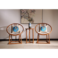 Redwood Mahogany Armchair Solid Wood Chair Backed Living Dining Room Rosewood Furniture Annatto Sedia China Facotry Customizable