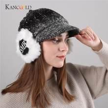 f5835284352 KANCOOLD cap hatsune miku Women Winter bucket hat Warm Cosy Gradient Color  Protect Casquette Knit Wool