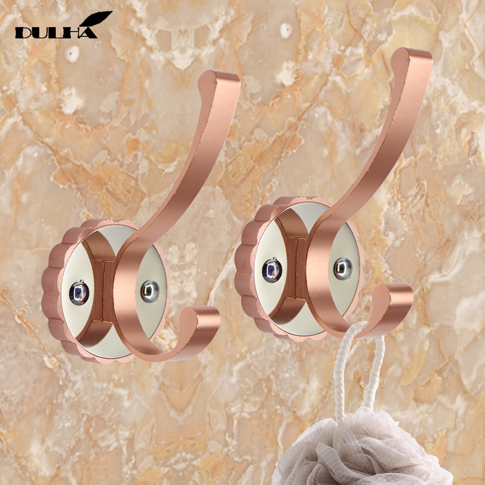 2PCS Decorative Wall Hooks For Hanging Cloth Hat Towel Hook Hangers Metal Coat Bag Rack Hanger For Bathroom Kithen Free Shipping in Robe Hooks from Home Improvement