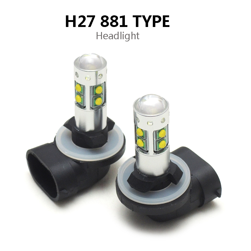 50 Watt Scheinwerfer Led lampen H27 881 Led lampe ATV für Polaris ...
