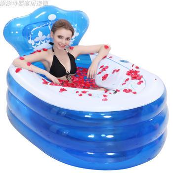 A2Insulation Bathtub Thickened Adult Inflatable Bathtub Extra Large Folding Inflatable Bathtub With Cushion Manual Electric Pump