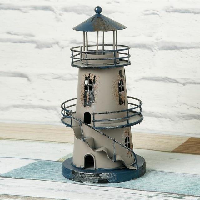 Lighthouse Beacon Tower Figurines Figure Shelf Deco Gift Crafts ...