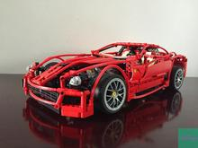 Decool Model building kits compatible with lego city Ferrari 599GTB 844 3D blocks Educational toys hobbies for children