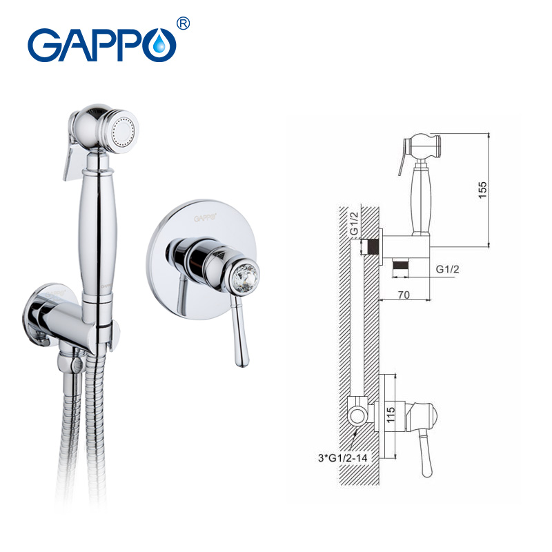 Gappo Kristall Badezimmer Bidet Dusche Set Bidet Wasserhahn Wc Sprayer Wc  Bidet Muslimischen Messing Wandhalterung Washer Mischbatterie GA7297 In  Gappo ...