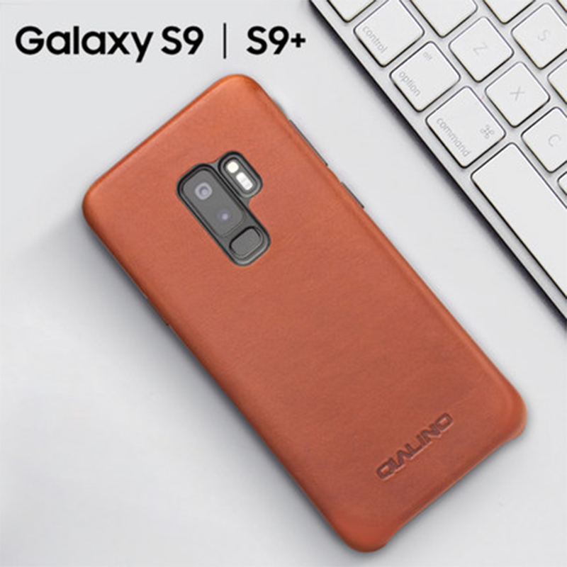 Luxury Brand Back Case for Samsung Galaxy S9 & S9 Plus Genuine Cow Leather Phone Skin Cover Skin for Fundas Samsung S9plus