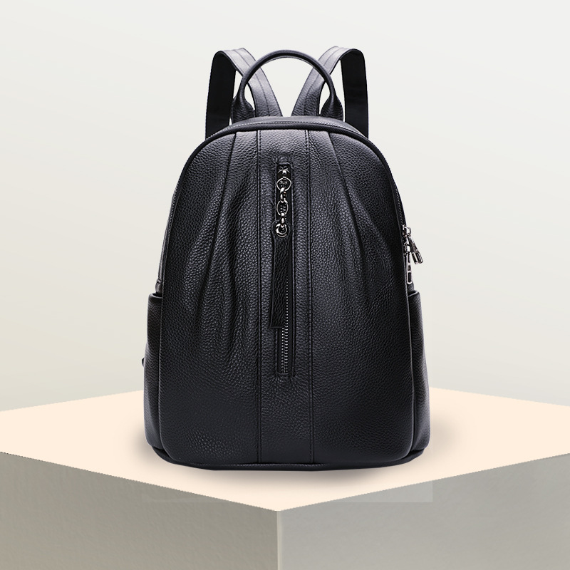 Women Leather backpack Female 2018 New Genuine leather backpack Casual Double Shoulder Bag Travel bag back pack new genuine leather women oil nubuck retro women backpack casual backpack casual shoulder bag bucket bag a4625