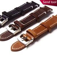 TJP 18mm 19mm 20mm 21mm 22mm Braun Aus Echtem Leder Retro Watchbsand Für Business Casual Armband armband Armband