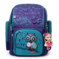 DELUNE 3D Cartoon Waterproof School Bags For Girls Boys Foldable Orthopedic Children Backpack Kids Bag Primary