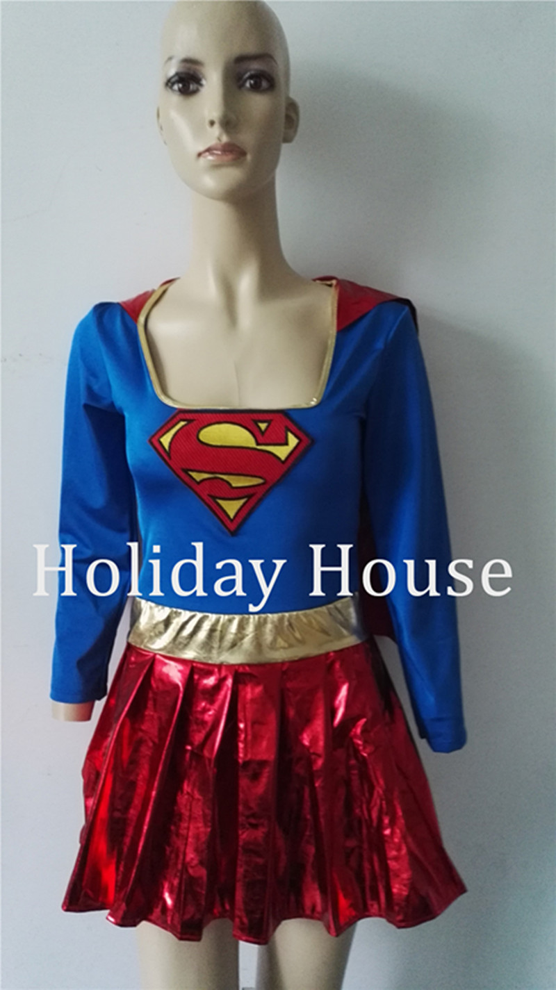 Adult Supergirl Costume Cosplay 2017 Super Woman Superhero Sexy Fancy Dress With Boots Girls Superman Halloween Costumes Clothin The Latest Fashion Home