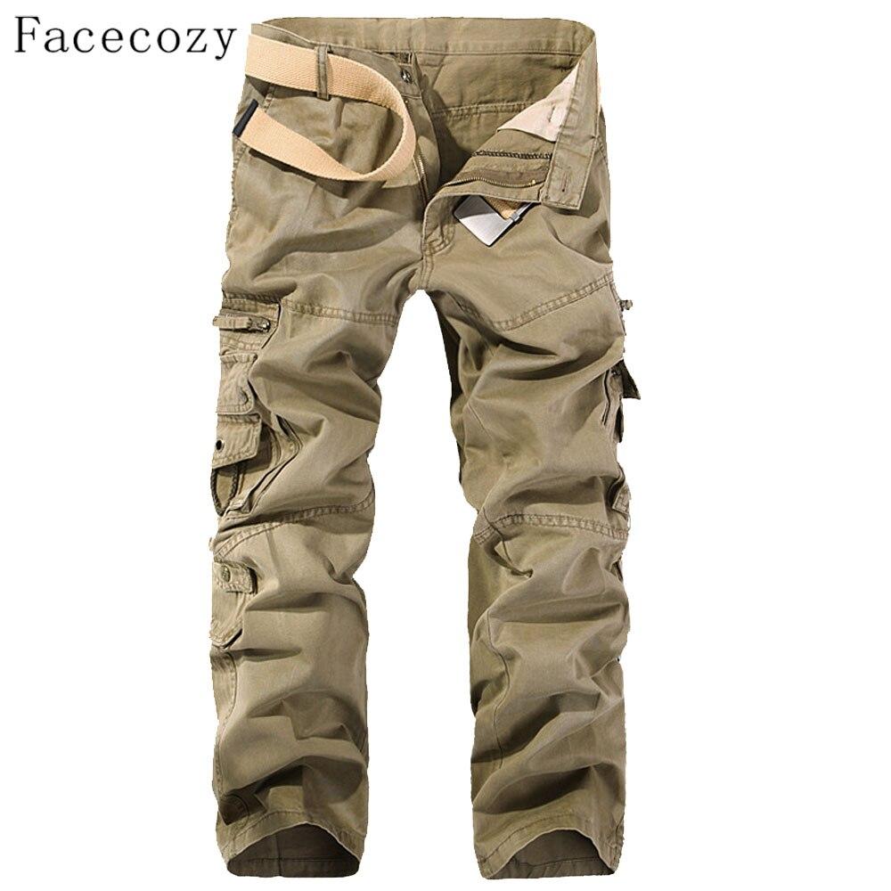 Facecozy Для мужчин осень ветрозащитные штаны Мужской поход спортивных брюк с мульти-карманы плюс Размеры ...