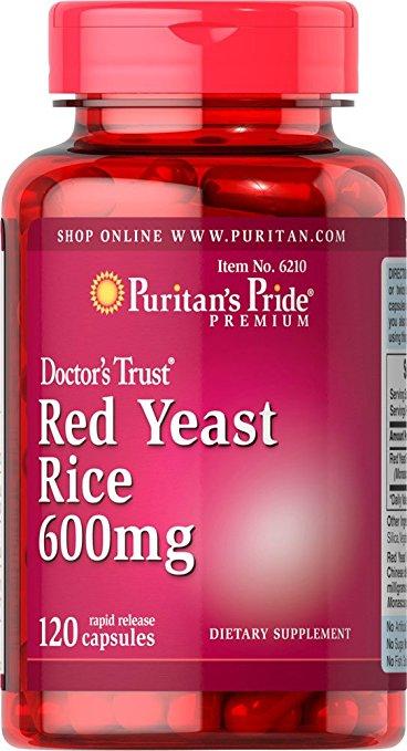 Red Yeast Rice 600 mg-120 pcs free shipping usa trunature ginko biloba with vinpocetine 120 mg 300 softgels bottle free shipping