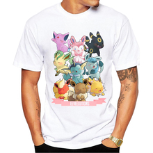 4fce9bc4 Men Fashion T-shirt Short Sleeve t shirts Pokemon Go Spirits Printed Funny  Comics tee