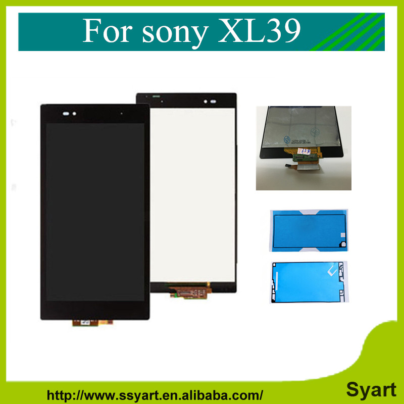 6.44 inch XL39 LCD complete Display For Sony Xperia Z Ultra XL39h XL39 C6806 C6843 C6833 touch screen digitizer+Adhesive