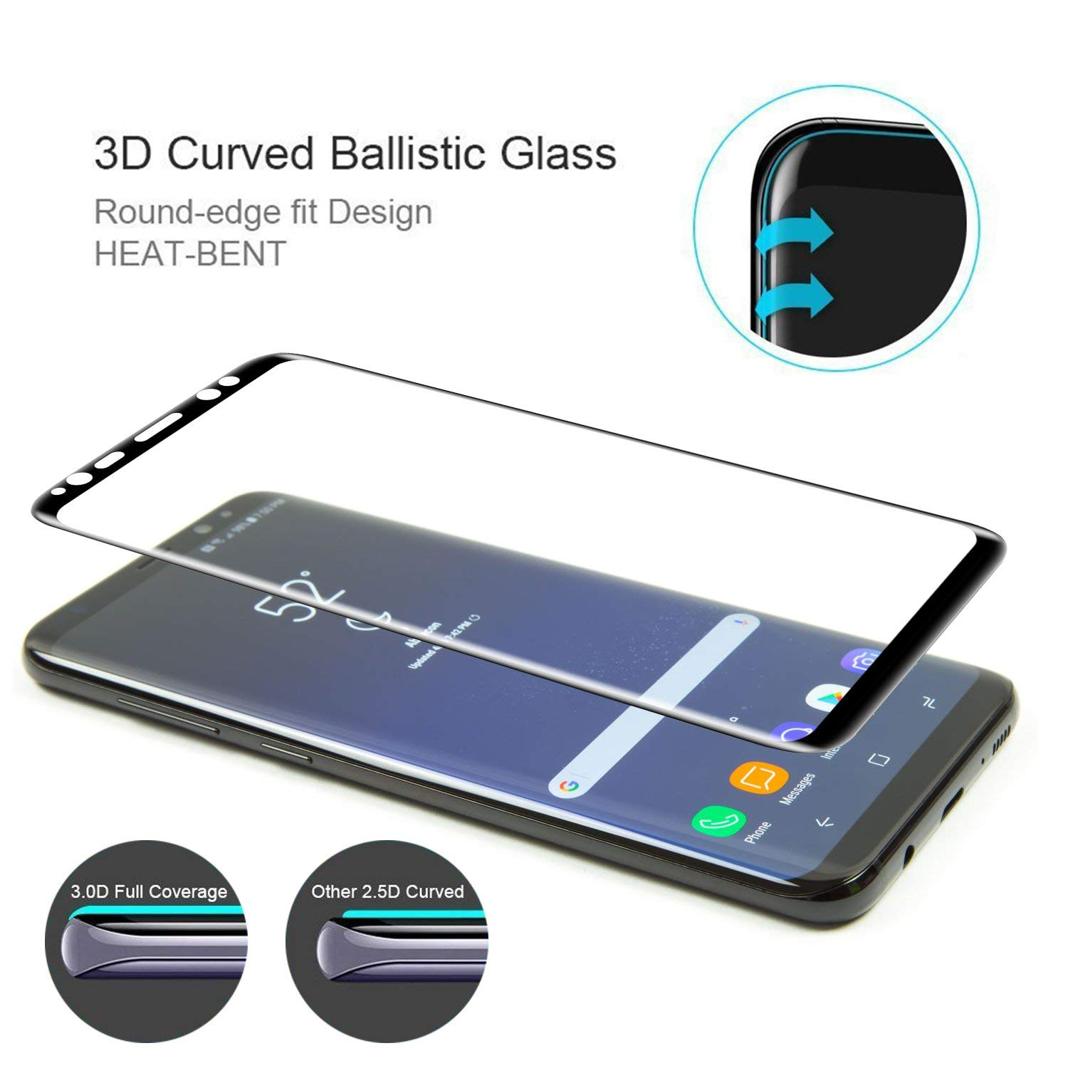 3D Curved Full Screen Protector For Samsung S8 Plus Note 8 Tempered Glass For Samsung Galaxy