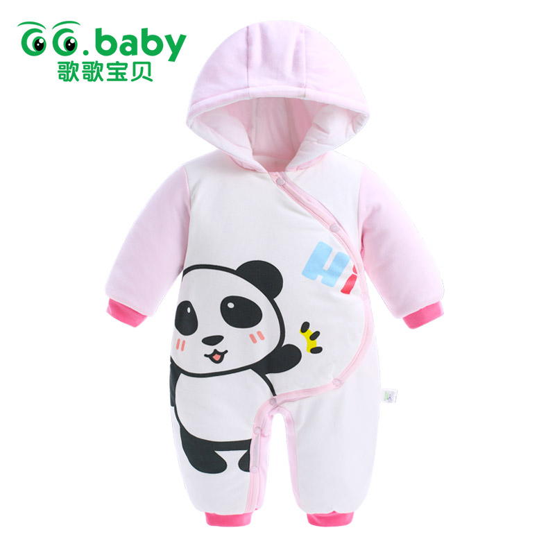 2017 Newborn Hooded Winter Jumpsuit Baby Rompers Baby Boy Romper Cotton Baby Clothes One-piece Outwear Warm Baby Boys Jumpsuits newborn rompers baby boy romper winter long sleeve cotton clothing toddler baby clothes jumpsuit warm cartoon baby boys pajamas