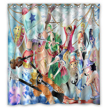 66x72 One Piece Shower Curtain 72x72 Inch Dragon Ball Z Bleach Fairy Tail Naruto Together