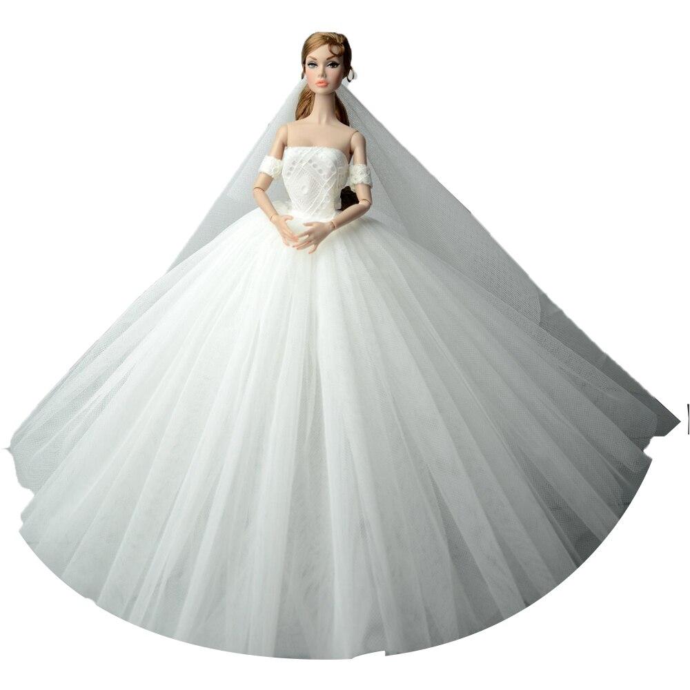 NK One Pcs בעבודת יד הנסיכה שמלות כלה - בובות ואביזרים