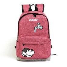Ткань оксфорд рюкзак Японский симпатичные Мэн кот сумка студенты пародия сумка рюкзак