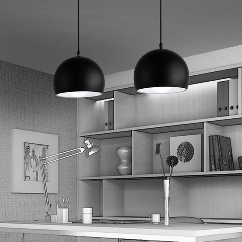 Image 2 - Modern Simple Ball E27 Pendant Lights Cafe Restaurant Lighting Pendant Lamp Light Fixtures Decorate Lamp Droplight-in Pendant Lights from Lights & Lighting