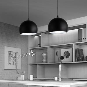 Image 2 - Moderne Einfache Ball E27 Anhänger Lichter Cafe Restaurant Beleuchtung Anhänger Lampe Leuchten Schmücken Lampe Droplight