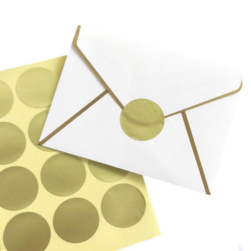 160pcs/lot Round Gold Mini DIY Multifunction Adhesive Sealing Sticker Packaging Sealing Label Sticker Gift Stickers