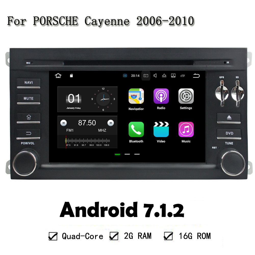 Android 7 1 2 car multimedia player gps navi for porsche cayenne 2006 2010 car