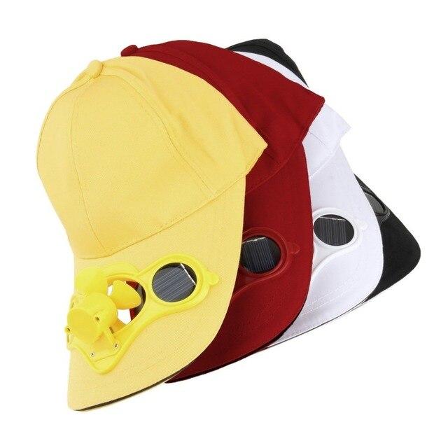 969970cfae8 Solar Powered Baseball Cap Fan Hat Men Women Summer Caps With Solar Sun  Power Cool Fan
