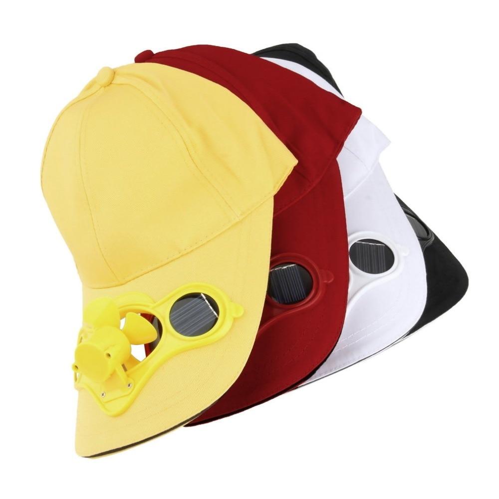 Solar Powered   Baseball     Cap   Fan Hat Men Women Summer   Caps   With Solar Sun Power Cool Fan Energy Save No Batteries Beach Hats