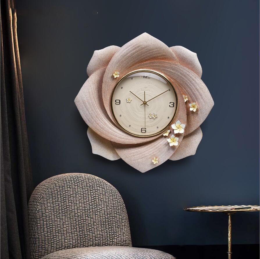 Современная роскошь тиснение полимерные настенные часы украшения ремесла креативные личные часы дома Висячие немой кварцевые часы фотообои с орнаментом - 3