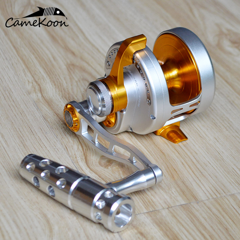 CAMEKOON Conventional Saltwater Lever Drag Fishing Reel 30KG Max Drag LEFT HAND Big Game Trolling Reel