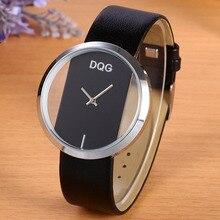 2017 New Brand Luxury DQG Casual Quartz Watch Women Straps Relogios Feminino Gold Crystal Dial Ladies Wrist Clock Hot Sale