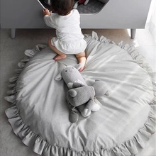 1Pc Cartoon Baby Round Lace Cotton children's Play crawling Mat Toys Soft Round Floor Carpets Rug Thicken For Kids Gifts Opp 1pc cartoon baby round lace cotton children s play crawling mat toys soft round floor carpets rug thicken for kids gifts opp