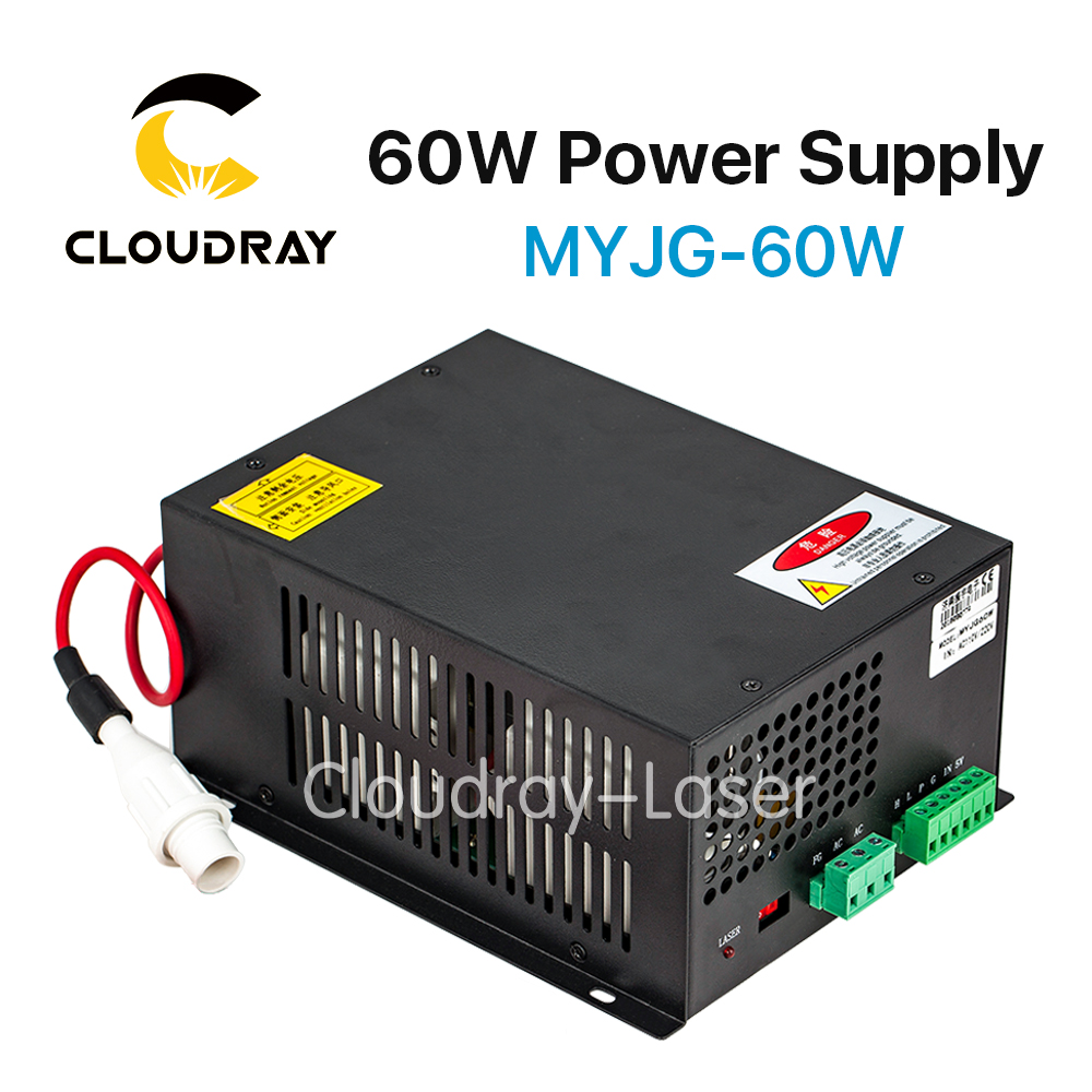 Cloudray 60W CO2 Laser Power Supply for CO2 Laser Engraving Cutting Machine MYJG-60W 60w co2 laser power supply for co2 laser engraving cutting machine myjg 60w