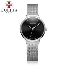 Top big sale women good quality full steel wrist watches women's Ultrathin fashion casual quartz watch Famous brand Julius 426
