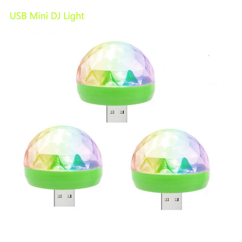 Mini IPhone Disco Light Portable Home Party Light DC 5V 4W Disco Ball Powerful Light Effect Colorful Stage LED Disco Lamp