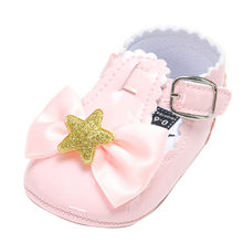 Baby Five-pointed Star Leather Fashion Toddler First Kid Shoes(China)