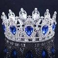 2016 Король/Королева Корона для свадьбы горный хрусталь crystal Crown Диадемы корона Капли Воды Золото/Серебро Гальваническим Свадебные корона