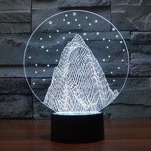 3D снег красочные USB Ночник ПРИВЕЛО настольная лампа Power Bank Светодиодные Night Light Для Детей 3d Лампа