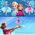 Обновление Индукционная Летающая Фея Игрушки Дистанционного Управления RC Летать Принцесса Эльза Вертолет игрушки для девочек