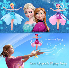 Upgrade Induction Flying Elsa Fairy Toys Remote Control font b RC b font Flying Princess font