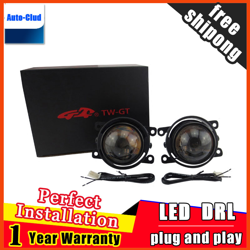 Car Styling HID Double light lens fog lamp for Peugeo 308 2009-2014 for foglight 2 function