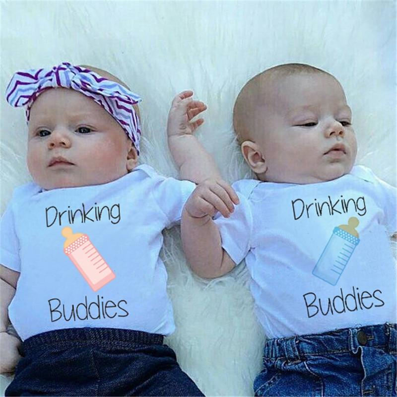2018 Body dla dzieci Summer Milk Printed White Cotton Odzież dla - Odzież dla niemowląt - Zdjęcie 5