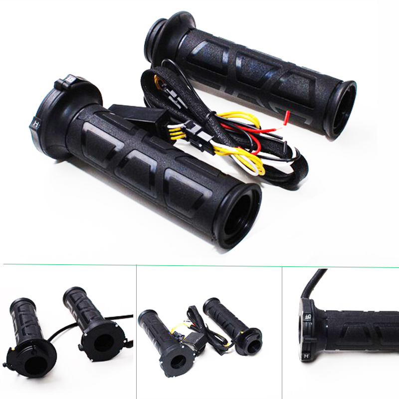 New Universal Motorcycle 22mm Electric Hand Heated Grips Molded Grips ATV Warmers Adjust Temperature Hot Handlebar