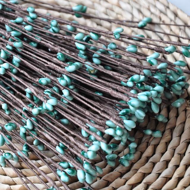 2018New colors Teal 50/100STEMS Pip Berries Wire DIY Handmade Flower ...