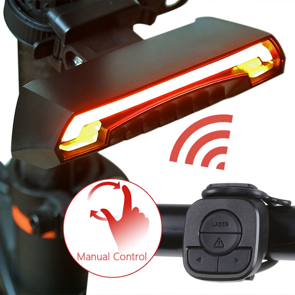 2018 Smart Beam Laser X5 Bike Turning Lights Rechargeable LED Bicycle Rear Light Smart Wireless Remote USB Lamp Led Control цена 2017