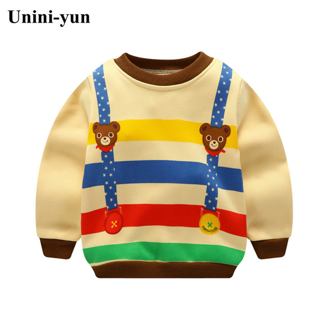 Cartoon Bear Kids Sweatshirts Spring/Autumn Casual Baby Clothes For Boys and Girl Animal Pullovers Girls Tops Children Clothing