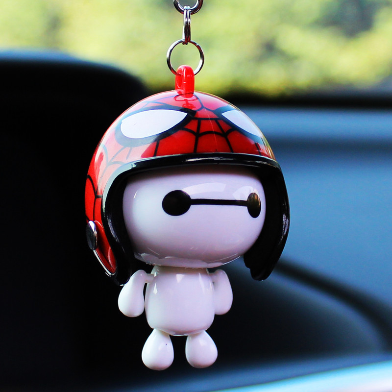 Helmet Baymax For Car Rear View Mirror Accessories Hanging